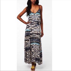 Beautiful unique print summer maxi dress